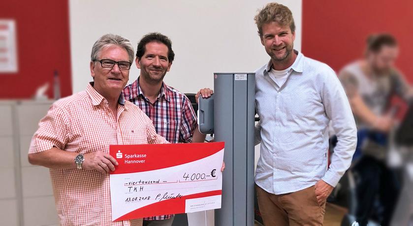 Reichsbund Stiftung unterstützt die Verbesserungen für Menschen mit Behinderungen im Turn-Klubb zu Hannover (TKH) - Bild1